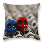 Navy Blue And Red Throw Pillow