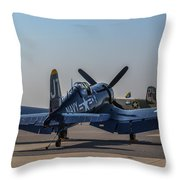 Navy Corsair Throw Pillow