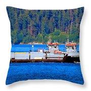 Navy Cover Throw Pillow