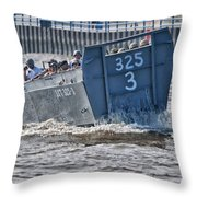 Navy Landing Craft 325 Throw Pillow