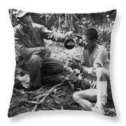 Navy Medic Assists Pow Throw Pillow
