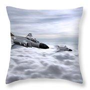 Navy Phantoms Throw Pillow
