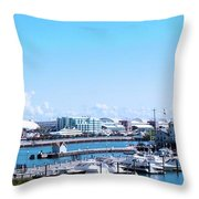 Navy Pier Chicago Il Looking Northeast Throw Pillow