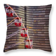 Navy Pier Wheel Chicago Throw Pillow