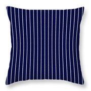 Navy Pinstripe 1 Throw Pillow