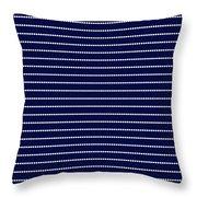 Navy Pinstripe 2 Throw Pillow