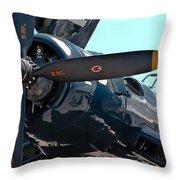 Navy Props Throw Pillow