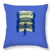 Navy Seal Leap Frogs 3 Vertical Parachutes Throw Pillow
