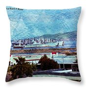 Navy Ships As A Painting Throw Pillow