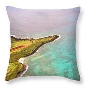 Nawiliwili Lighthouse - Aerial Throw Pillow
