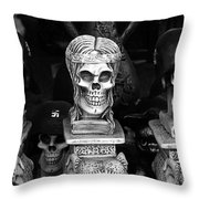Nazi Helmets Skeletons Elephant Statuary Border Town Nogales Sonora Mexico 1968 Throw Pillow