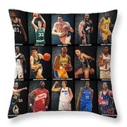Nba Legends Throw Pillow by Taylan Apukovska
