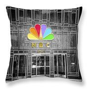 Nbc Facade Selective Coloring Throw Pillow