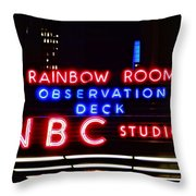 Nbc Studios Throw Pillow