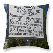 Nc-a33 Wreck Of The Metropolis Throw Pillow