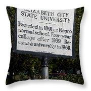 Nc-a37 Elizabeth City State University Throw Pillow