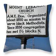 Nc-a43 Mount Lebanon Church Throw Pillow