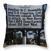 Nc-a62 Henry M. Shaw Throw Pillow