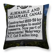 Nc-a76 Albemarle And Chesapeake Canal Throw Pillow