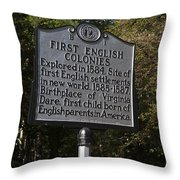 Nc-b1 First English Colonies Throw Pillow