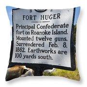 Nc-b2 Fort Huger Throw Pillow