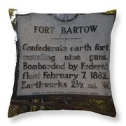 Nc-bbb2 Fort Bartow Throw Pillow
