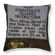 Nc-bbb3 Confederate Channel Obstructions Throw Pillow