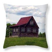 Nc Log Home 2 Throw Pillow