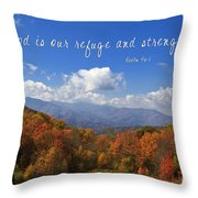 Nc Mountains With Scripture Throw Pillow