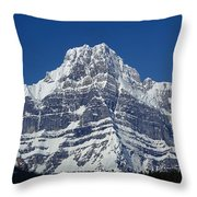 1m3644-ne Face Of Howse Peak Throw Pillow