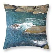 Neah Bay At Cape Flattery Throw Pillow