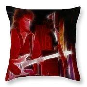 Neal Schon-gb21a-fractal Throw Pillow