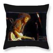 Neal Schon-gc18a-fractal Throw Pillow