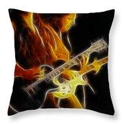 Neal Schon-gc5a-fractal Throw Pillow