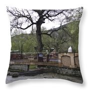 Near Entrance To Hindu Temple Of Mattan Throw Pillow