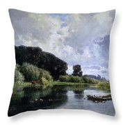 Near Friesland Throw Pillow