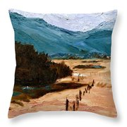 Near La Veta Throw Pillow