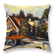 Near Reeds Throw Pillow