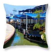 Near The Harbour Throw Pillow