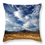 Near The Intersection Of God And The Eastern Sierras Throw Pillow