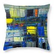 Near The Sunrise - Abstract Original Painting - Abwgc1 Throw Pillow