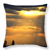 Nearly Home For The Night Throw Pillow