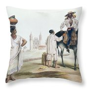Nebel Mexican Peddlers Throw Pillow