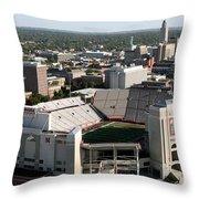 Nebraska Cornhuskers Stadium Lincoln Throw Pillow