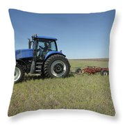 Nebraska Farming Throw Pillow