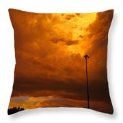 Nebraska Fire Throw Pillow
