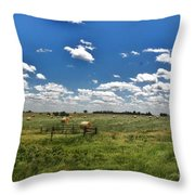 Nebraska Hay Baling Throw Pillow