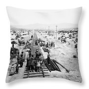 Nebraska Railroad Work Throw Pillow