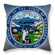 Nebraska State Seal Throw Pillow