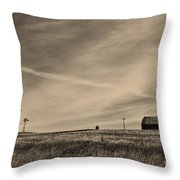 An Abandoned Nebraska Barn Throw Pillow